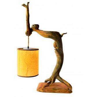 Lampe à pied en bois de cyprès