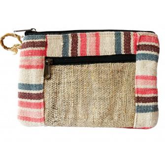 Pochette tibétaine en laine...