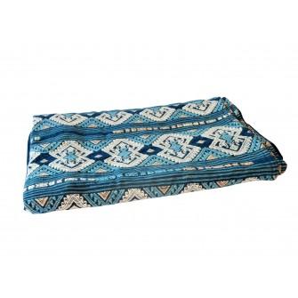Nappe Hani brodée sur batik