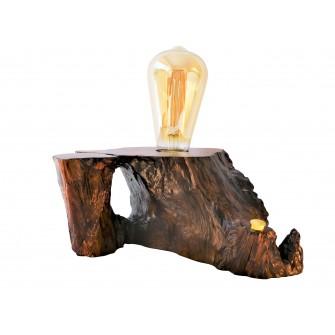 Lampe à socle en bois de...