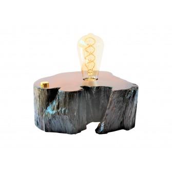 Lampe artisanale en bois de...