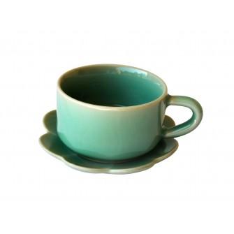 Tasses à café en céladon