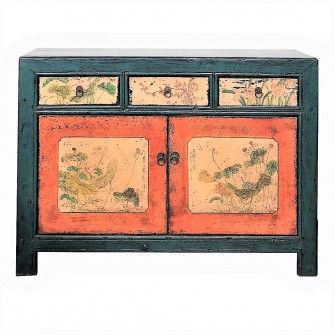 Cabinet peint du Gansu