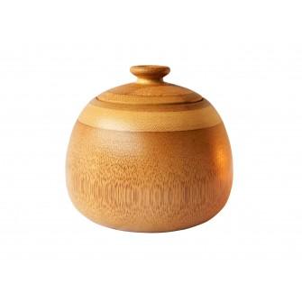 Boîte à thé ronde en bambou...