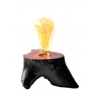 Lampes à socle en bois de...